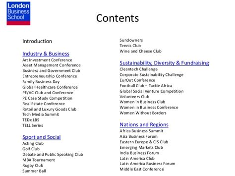 Lbs Mba Clubs by Lbs Student Pitch Book January 2014