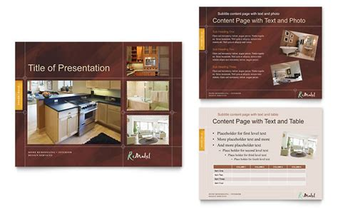 Home Remodeling Powerpoint Presentation Template Design Home Improvement Flyer Template