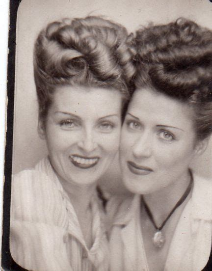hair style photo booth photo booth 1940s updos found photo print ad snapshot