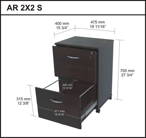 Dimensions Of Filing Cabinet by File Cabinets Dimensions Image Yvotube