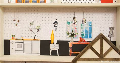 remodelaholic diy dollhouse tutorial  printable