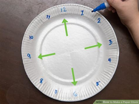 How To Make Clock Using Paper Plate - how to make a paper clock with pictures wikihow