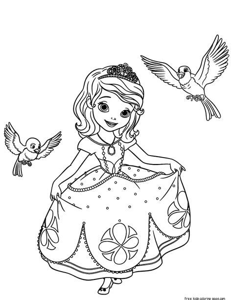 Printable Disney Princesses Sofia The First Coloring Princess Sofia Sheets Printable