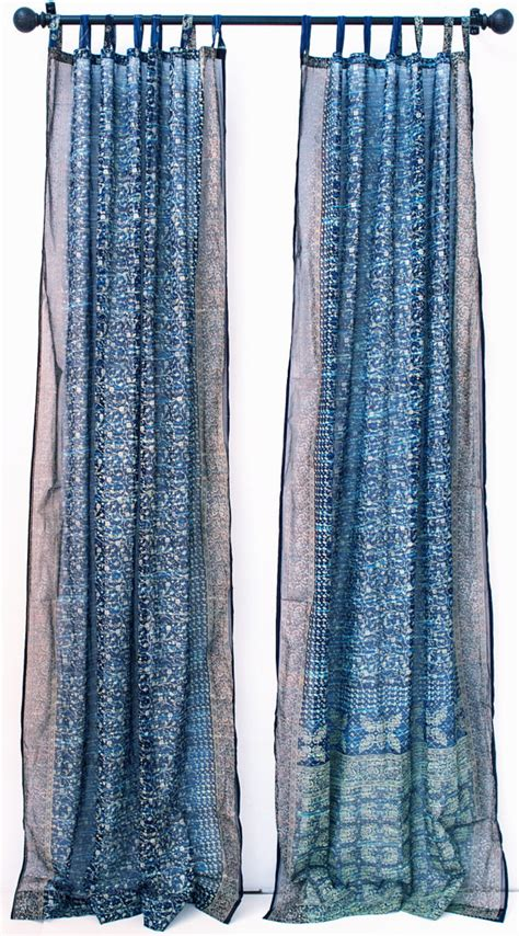 long blue curtains window curtain 108 long navy blue turquoise tie dye