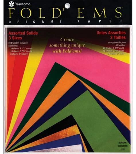 Fold Ems Origami Paper - fold ems origami paper 55pk jo
