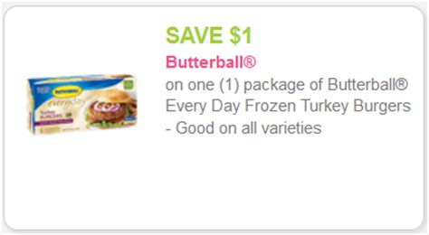 printable butterball turkey coupons new butterball turkey burger coupon kroger sale