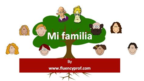 mi themes english la familia basic spanish lesson youtube