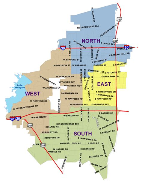 map of texas arlington district map arlington department volunteer