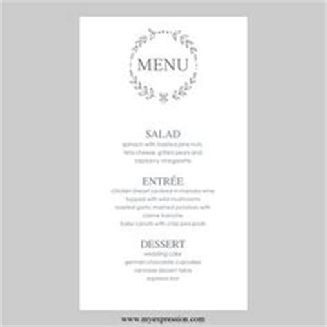 menu card template word free 1000 images about projects to try on wedding
