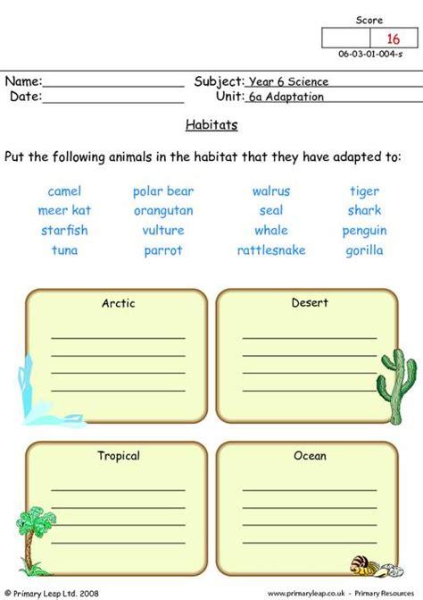Animal Habitats Worksheets by Free Habitats Worksheets Coloring Pages