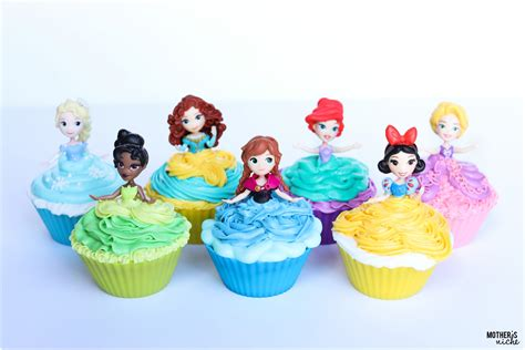 printable 12 mixed disney princess party cup cake toppers diy disney princess cupcakes how to make by