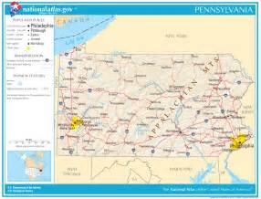 road map state pennsylvania state maps interactive pennsylvania state
