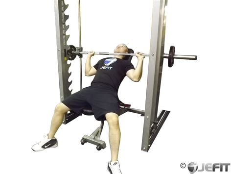 benching machine smith machine incline bench press exercise database