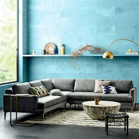 west elm andes sofa andes 3 piece sectional west elm