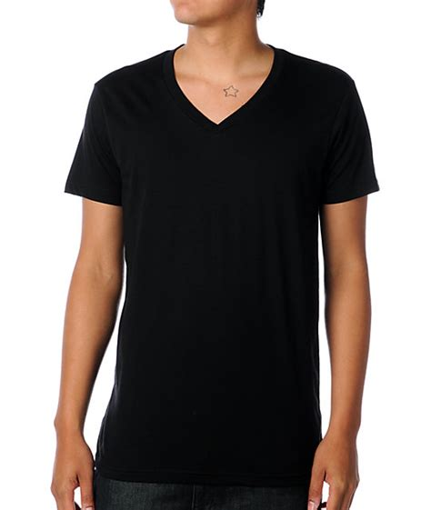 Black V Neck Shirt Sml zine v neck black t shirt zumiez