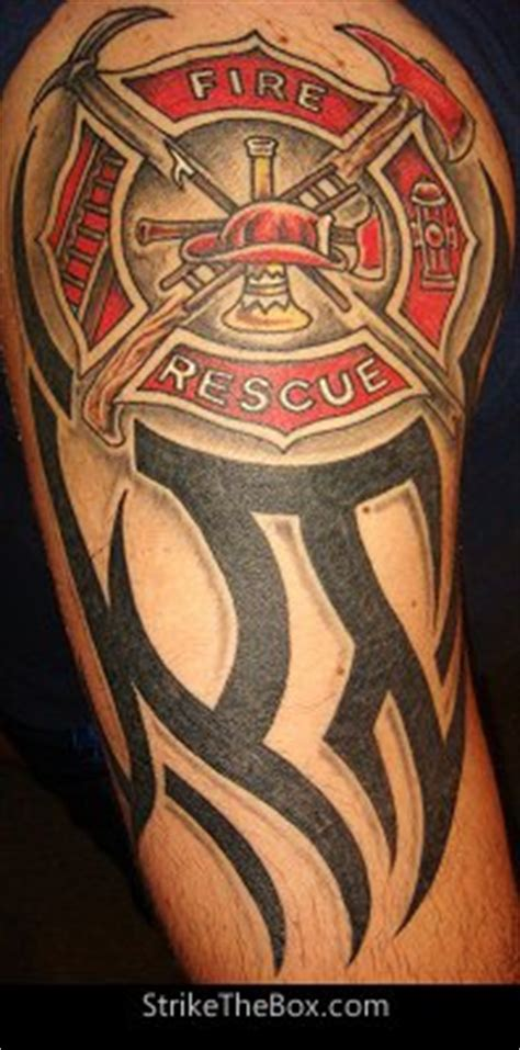 fire dept tattoos firefighter maltese cross