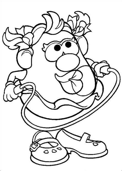 Kids N Fun Com 57 Coloring Pages Of Mr Potato Head Mrs Potato Coloring Pages