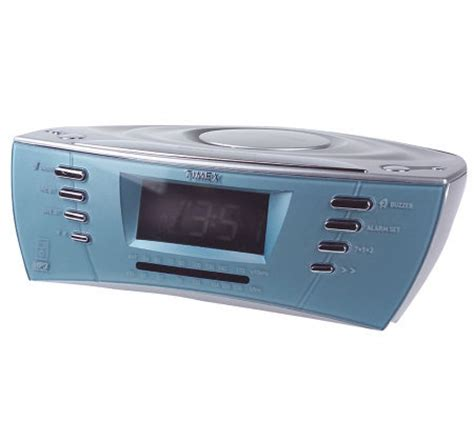 timex dual alarm clock radio w mp3 and cd line in qvc