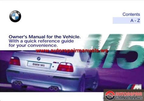 online car repair manuals free 2000 bmw m5 on board diagnostic system bmw e39 m5 owner s manual 2000 auto repair manual forum heavy equipment forums download