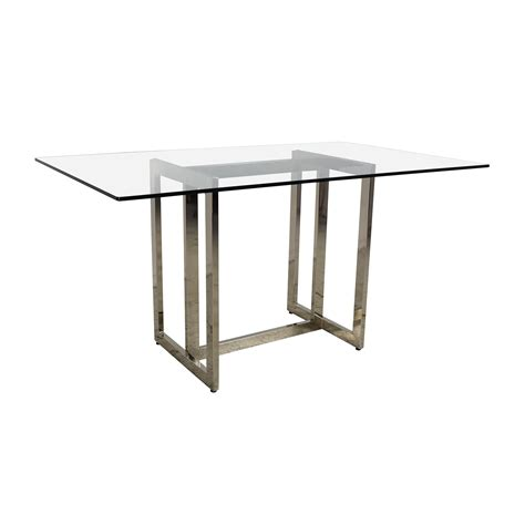 west elm glass desk 61 off west elm west elm hicks glass top dining