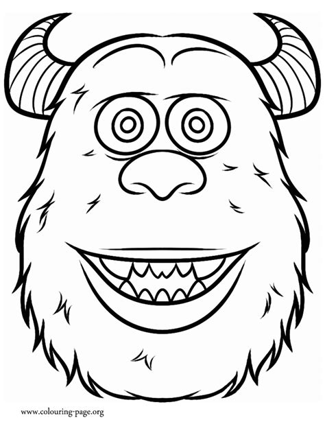 coloring pages of monster university free coloring pages of mask sully