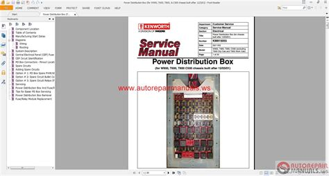service manual online repair manual for a 2012 maserati quattroporte service manual pdf 2008 2007 kenworth w900 wiring diagrams images paccar w900 fuse readingrat net