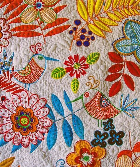 Embroidery On Quilts by Appliqu 233 Embroidery And Quilting Quilts