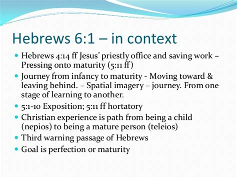 hebrews 6 1 3 leave these elementary teachings foundations part01 repentance