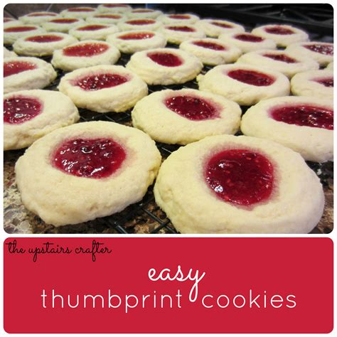 the upstairs crafter easy thumbprint cookies