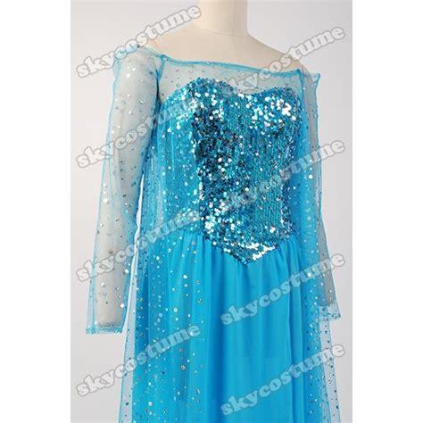 Dress Frozen Blue frozen snow elsa fancy blue dress suit costume skycostume