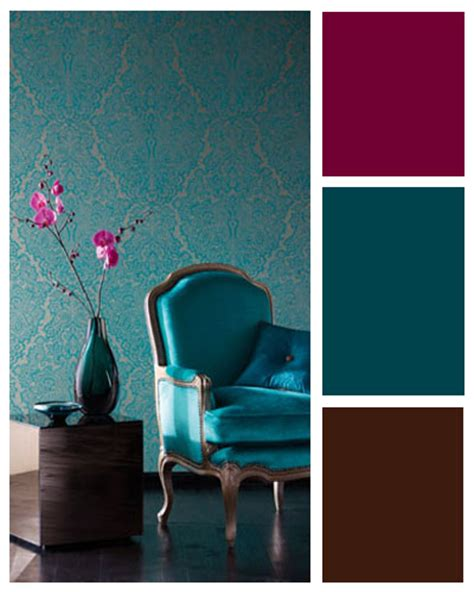 Teal Colour Scheme Living Room by Roses And Doves Emerald Green Theme