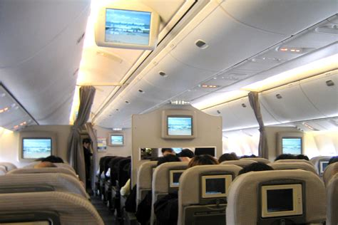 Japan Airlines Cabin by File Japan Airlines 767 300er Economy Cabin Jpg