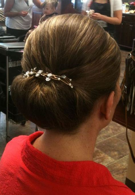 fashion forward hair up do updo formal style for mother of the bride wedding hair