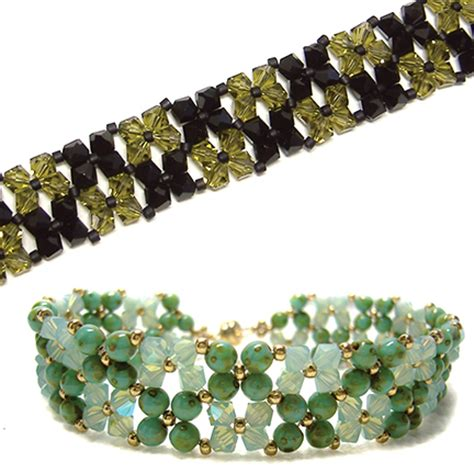 around the beading table free pattern easy bracelet