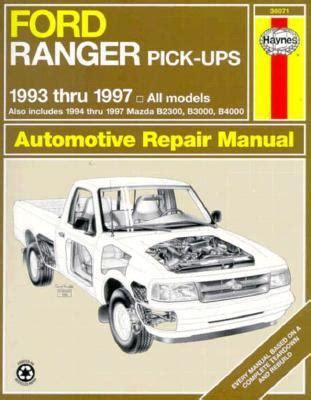 online car repair manuals free 1996 ford ranger electronic valve timing ford ranger and mazda pick ups automotive repair manual 1993 thru 1997 eric jorgensen