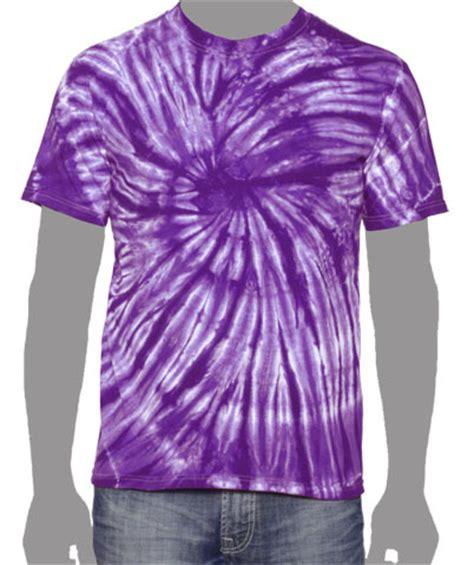 one color purple tie dye vat spiral t shirt