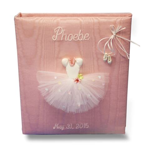 memory book personalized baby memory books ballerina personalized