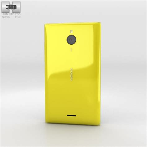 Nokia X2 Yellow Themes | nokia x2 yellow 3d model hum3d