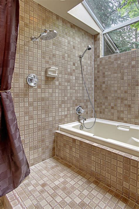 Jet Tub With Shower Combo Tropical Bathroom Design With Convertible Surround Bathtub