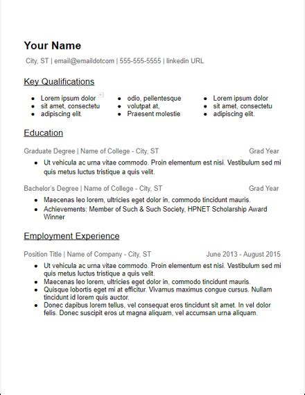 3 Column Resume Template Word by No Experience 3 Column Skills Education Based Resume
