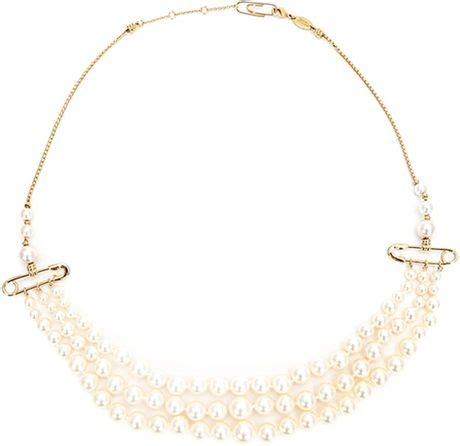 Azumi David Safety Pin Necklaces It Or It by Vivienne Westwood Safety Pin Necklace In White