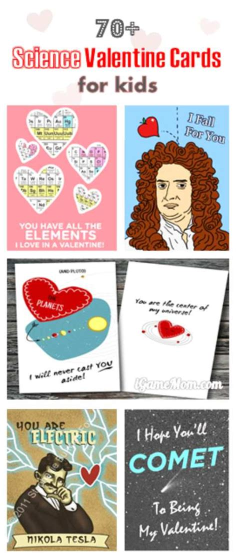 science valentines cards 70 science cards for igamemom