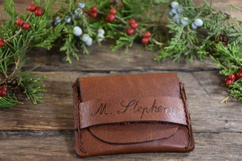 Handmade Mens Gifts - gifts personalized leather wallet handmade mens
