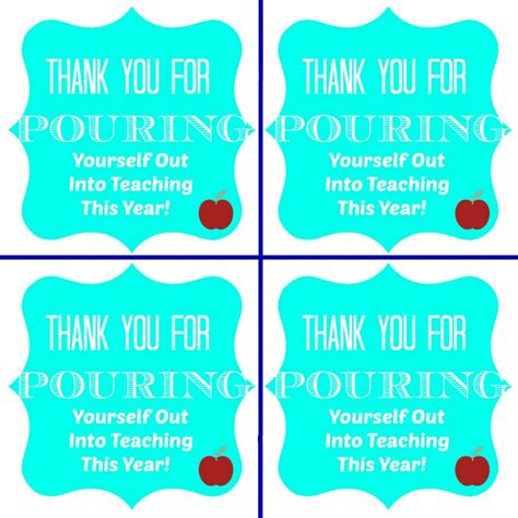 End Of Year Thank thank you for pouring yourself into teaching this year