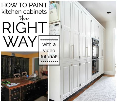 Paint Your Own Kitchen Cabinets video tutorial how to paint kitchen cabinets the