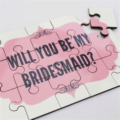 be my ideas will you be my bridesmaid jigsaw by lou brown designs