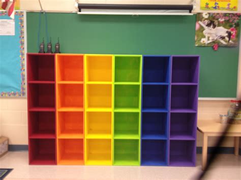 diy cubbies diy rainbow cubbies this looks awesome in my classroom