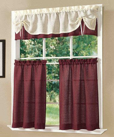 burgundy kitchen curtains burgundy sunrise kitchen curtain set