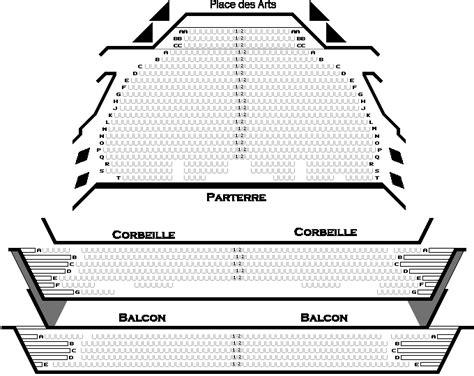 place des arts seating chart theatre maisonneuve r 233 al b 233 land spectacle billets et calendrier complet