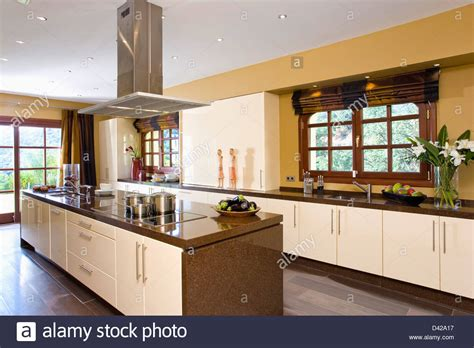 modern kitchen extractor fans extractor fan island unit in modern kitchen in